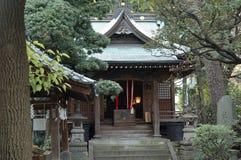 De ingang van de tempel Stock Foto