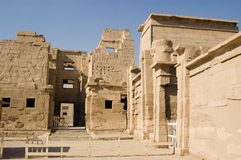 De ingang van de Tempel van Habu van Medinet Royalty-vrije Stock Afbeeldingen