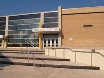 De ingang van de toelating voor een school royalty-vrije stock afbeelding