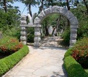 De ingang van de tuin Stock Foto