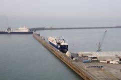 De ingang van de veerboot in Engels kanaal Royalty-vrije Stock Fotografie