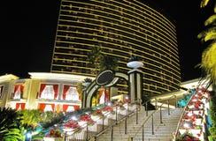 De ingang van een Hotel in Las Vegas wordt Alle namen en Emblemen geschrapt Stock Afbeelding