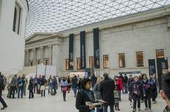 De ingang van het Britse museum Stock Foto's