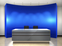 De ingang van het bureau Stock Afbeeldingen