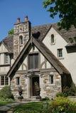 De ingang van het de stijlhuis van Tudor Stock Foto
