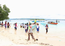 De Ingang van het Evangelie in het Eiland van Papoea stock foto