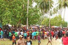 De Ingang van het Evangelie in het Eiland van Papoea stock foto's