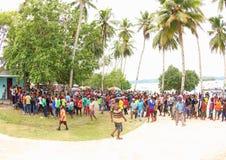 De Ingang van het Evangelie in het Eiland van Papoea royalty-vrije stock afbeeldingen