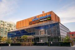 De ingang van het Harbourfrontcentrum, TORONTO, CANADA - MEI 31, 2014 Stock Foto's