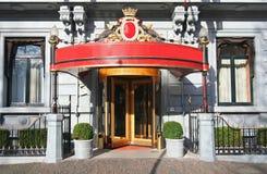 De Ingang van het hotel Stock Foto