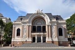 De Ingang van het Huis van de opera, Ho-Chi-Minh-Stad, Vietnam Royalty-vrije Stock Afbeelding