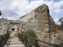 De ingang van het kasteel Royalty-vrije Stock Foto
