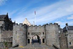 De Ingang van het kasteel stock afbeeldingen