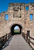 De ingang van het kasteel stock foto's