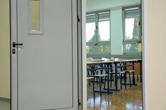 De ingang van het klaslokaal Stock Foto's