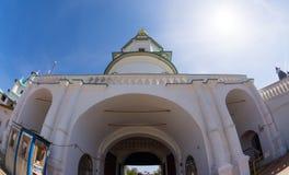 De ingang van het Klooster van Verrijzenis Nieuwe Jeruzalem royalty-vrije stock fotografie
