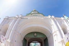 De ingang van het Klooster van Verrijzenis Nieuwe Jeruzalem in Rusland stock foto