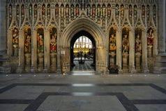 De ingang van het koor, Kathedraal Ripon Stock Afbeeldingen
