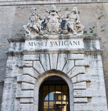 De Ingang van het Museum van Vatikaan stock fotografie
