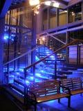 De ingang van het neon Royalty-vrije Stock Foto's