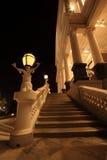 De ingang van het Paleis van Falaknuma bij nacht Royalty-vrije Stock Foto's