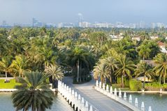 De Ingang van het de Palmeiland van Miami Royalty-vrije Stock Fotografie