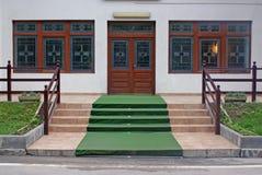 De ingang van het restaurant Royalty-vrije Stock Foto