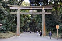 De ingang van het Yoyogipark in Tokyo Royalty-vrije Stock Afbeelding