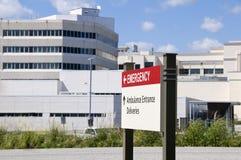De ingang van het ziekenhuis Royalty-vrije Stock Foto's