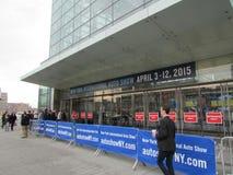 De ingang van Internationale Auto van New York van 2015 toont Stock Afbeeldingen