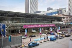De ingang van KL Sentral, de grootste transporationhub in Maleisië royalty-vrije stock afbeelding
