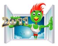 De ingang van krachtig Nieuwjaar Royalty-vrije Stock Foto's