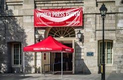 De ingang van Montreal'sworld press photo 2016 Stock Foto's