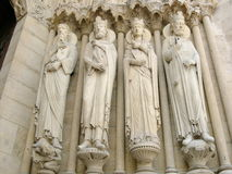 De Ingang van Notre Dame Royalty-vrije Stock Afbeelding