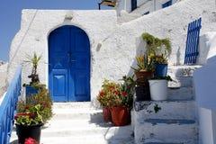De ingang van Santorini Stock Afbeelding