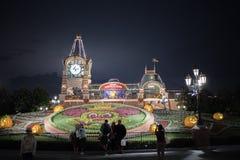 De ingang van Shanghai, China Disneyland stock foto's