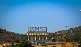 De ingang van de Stad van de Film van Ramoji Stock Foto's