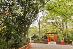 De ingang van Tadasu No Mori (Shimogamo-Heiligdom) Royalty-vrije Stock Afbeelding