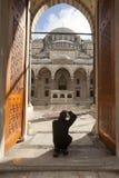 De ingangen die tot het hof van Suleymaniye-Moskee leiden Royalty-vrije Stock Foto's