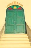 De ingangsdeur aan de tempel Stock Foto's