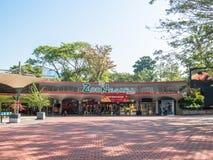 De ingangsmening van de Nationale Dierentuin in Kuala Lumpur, werd de dierentuin officieel geopend op 14 November 1963 Royalty-vrije Stock Afbeelding