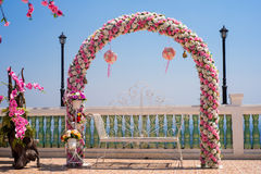 De ingangsontwerp van de bloemenpoort Stock Afbeelding