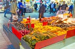 De ingeblikte groenten in markt Royalty-vrije Stock Afbeeldingen
