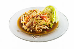 De ingelegde salade van de krabpapaja Royalty-vrije Stock Fotografie