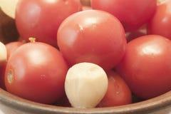 De ingelegde tomaten Stock Foto's