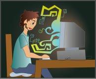De ingenieur van IT royalty-vrije illustratie