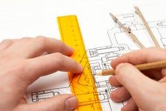 De ingenieur van het ontwerp stock afbeelding