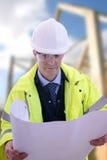 De Ingenieur van het project Stock Afbeelding
