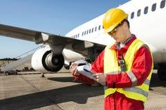 De ingenieur van vliegtuigen Stock Foto's