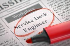 De Ingenieur Wanted van het de dienstbureau 3d Stock Afbeeldingen